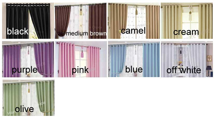 Curtain Color custom made curtain eyelet purple blockout curtains lilac from $33